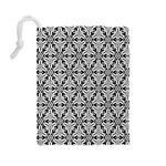 Ornamental Checkerboard Drawstring Pouch (Large) Back