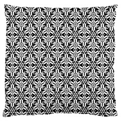 Ornamental Checkerboard Large Flano Cushion Case (two Sides)