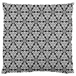 Ornamental Checkerboard Large Flano Cushion Case (Two Sides) Back