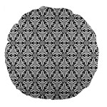 Ornamental Checkerboard Large 18  Premium Flano Round Cushions Back