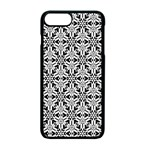 Ornamental Checkerboard Apple iPhone 7 Plus Seamless Case (Black) Front