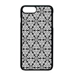 Ornamental Checkerboard Apple iPhone 8 Plus Seamless Case (Black) Front