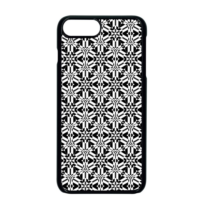 Ornamental Checkerboard Apple iPhone 8 Plus Seamless Case (Black)