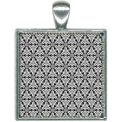 Ornamental Checkerboard Square Necklace by Mariart