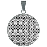 Ornamental Checkerboard 30mm Round Necklace Front