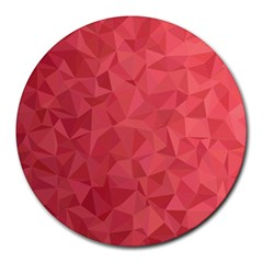 Triangle Background Abstract Round Mousepads by Mariart