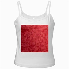 Triangle Background Abstract White Spaghetti Tank