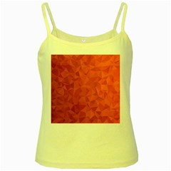 Triangle Background Abstract Yellow Spaghetti Tank