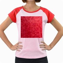 Triangle Background Abstract Women s Cap Sleeve T-Shirt