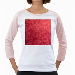 Triangle Background Abstract Girly Raglan