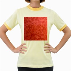 Triangle Background Abstract Women s Fitted Ringer T-Shirt