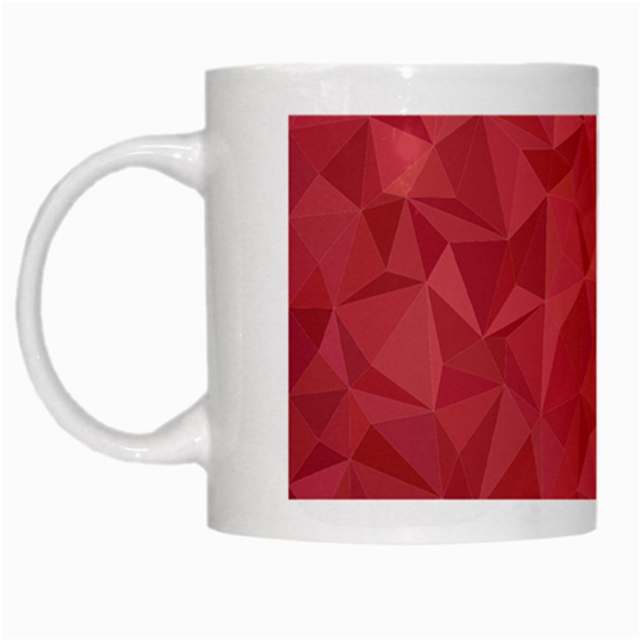 Triangle Background Abstract White Mugs