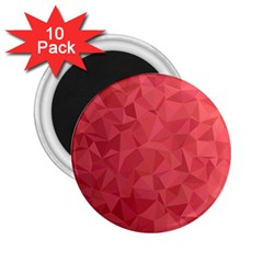 Triangle Background Abstract 2.25  Magnets (10 pack)