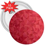 Triangle Background Abstract 3  Buttons (10 pack)  Front