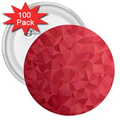Triangle Background Abstract 3  Buttons (100 pack)