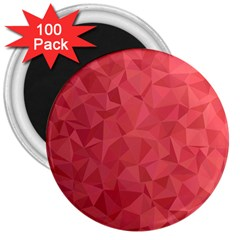 Triangle Background Abstract 3  Magnets (100 pack)