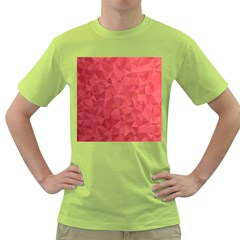 Triangle Background Abstract Green T-Shirt