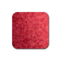 Triangle Background Abstract Rubber Coaster (Square)
