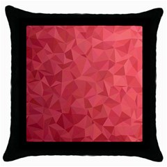 Triangle Background Abstract Throw Pillow Case (Black)