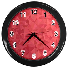 Triangle Background Abstract Wall Clock (Black)