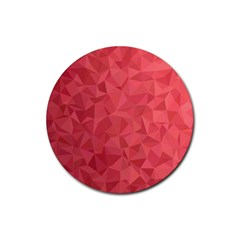 Triangle Background Abstract Rubber Round Coaster (4 pack)