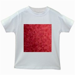 Triangle Background Abstract Kids White T-Shirts
