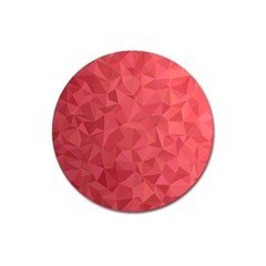Triangle Background Abstract Magnet 3  (round)