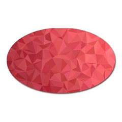 Triangle Background Abstract Oval Magnet