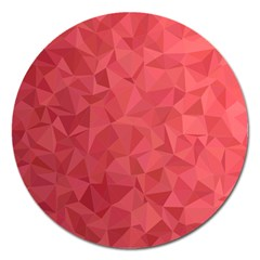 Triangle Background Abstract Magnet 5  (Round)