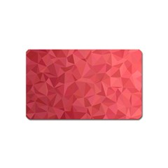 Triangle Background Abstract Magnet (name Card)