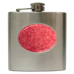 Triangle Background Abstract Hip Flask (6 Oz)