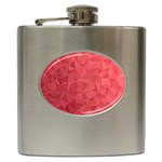 Triangle Background Abstract Hip Flask (6 oz) Front