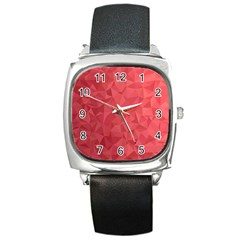Triangle Background Abstract Square Metal Watch