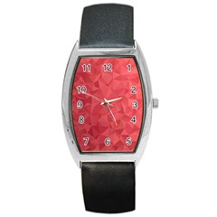 Triangle Background Abstract Barrel Style Metal Watch