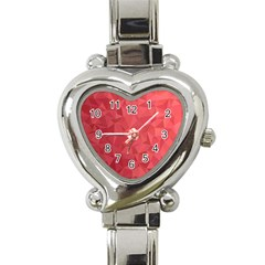 Triangle Background Abstract Heart Italian Charm Watch