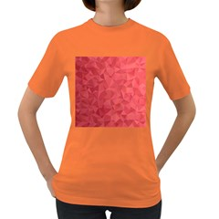 Triangle Background Abstract Women s Dark T Shirt