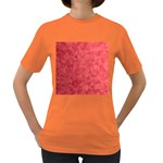Triangle Background Abstract Women s Dark T-Shirt Front