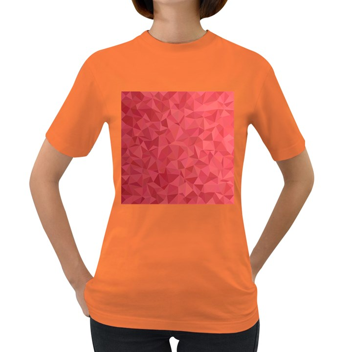 Triangle Background Abstract Women s Dark T-Shirt