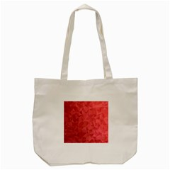 Triangle Background Abstract Tote Bag (Cream)