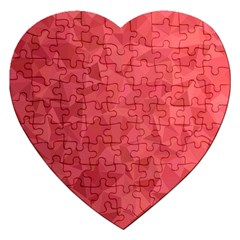 Triangle Background Abstract Jigsaw Puzzle (Heart)