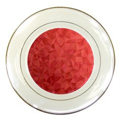Triangle Background Abstract Porcelain Plates
