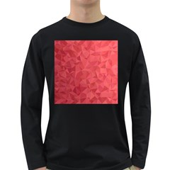 Triangle Background Abstract Long Sleeve Dark T-Shirt