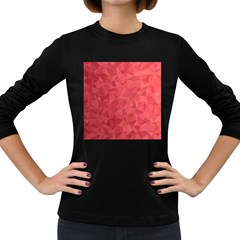 Triangle Background Abstract Women s Long Sleeve Dark T-Shirt