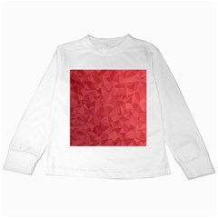 Triangle Background Abstract Kids Long Sleeve T-Shirts