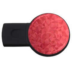 Triangle Background Abstract USB Flash Drive Round (4 GB)