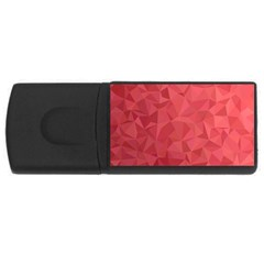 Triangle Background Abstract Rectangular USB Flash Drive