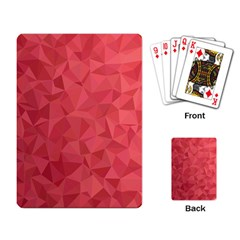 Triangle Background Abstract Playing Cards Single Design