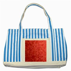 Triangle Background Abstract Striped Blue Tote Bag