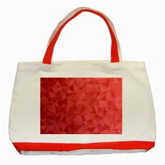 Triangle Background Abstract Classic Tote Bag (Red)