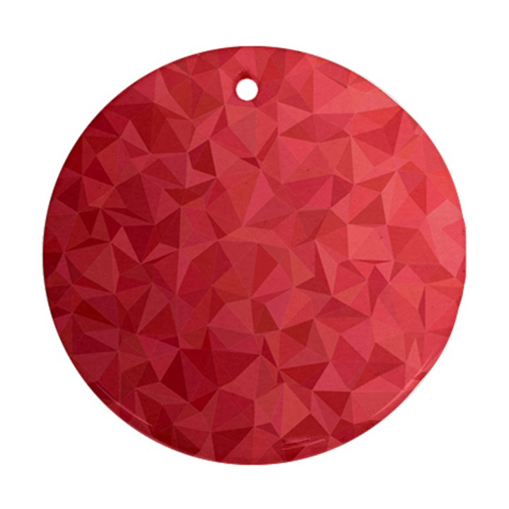 Triangle Background Abstract Round Ornament (Two Sides)